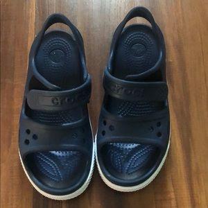 Navy blue crocs sandals size 13
